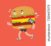 fast food or burger on the run...   Shutterstock .eps vector #730447075