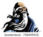 great chinese philosopher... | Shutterstock .eps vector #730449415