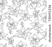 seamless pattern with black and ... | Shutterstock .eps vector #730451536