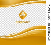 wavy company background vector... | Shutterstock .eps vector #730455142