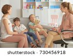 young child psychologist... | Shutterstock . vector #730456918