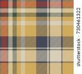 yellow plaid check fabric... | Shutterstock .eps vector #730461322