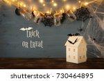 halloween holiday concept....   Shutterstock . vector #730464895