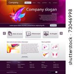 website design template | Shutterstock .eps vector #73046998