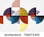 circle elements on black... | Shutterstock .eps vector #730471342