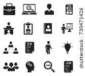 job icons. black flat design.... | Shutterstock .eps vector #730471426