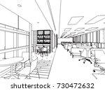 interior outline sketch drawing ... | Shutterstock .eps vector #730472632