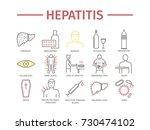 hepatitis line icon... | Shutterstock .eps vector #730474102