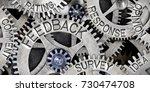 macro photo of tooth wheel...   Shutterstock . vector #730474708