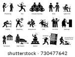 crime and criminal. pictogram... | Shutterstock .eps vector #730477642