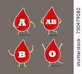 blood group cartoon style | Shutterstock .eps vector #730479082