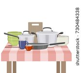 illustration of kitchenware and ...   Shutterstock . vector #730484338