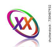 letter xx logotype design for... | Shutterstock .eps vector #730487932