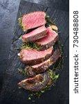 barbecue dry aged kobe rib eye...   Shutterstock . vector #730488808