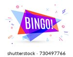 colorful banner with text bingo ... | Shutterstock . vector #730497766