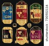 luxury golden wine labels... | Shutterstock .eps vector #730502116