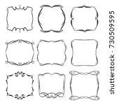 set of vector vintage frames on ... | Shutterstock .eps vector #730509595