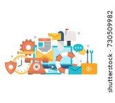 customer service  customer... | Shutterstock .eps vector #730509982