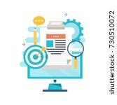 technical support  customer... | Shutterstock .eps vector #730510072