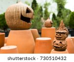 pumpkin head candle lights for... | Shutterstock . vector #730510432