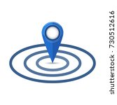 map pointer flat icon. gps...