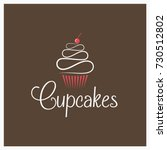 cupcake logo design background | Shutterstock .eps vector #730512802
