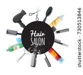 hair and beauty salon poster... | Shutterstock .eps vector #730513846
