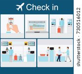 businessman  check in at the... | Shutterstock .eps vector #730516012