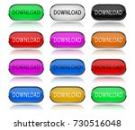 download colored buttons. pairs ... | Shutterstock . vector #730516048