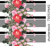seamless pattern with beautiful ... | Shutterstock .eps vector #730519642