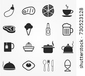 food icon set   Shutterstock .eps vector #730523128