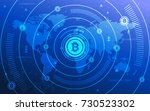 modern ultra hd crypto currency ... | Shutterstock .eps vector #730523302