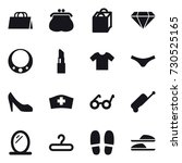 16 vector icon set   shopping...   Shutterstock .eps vector #730525165