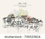 hoi an  vietnam. ancient... | Shutterstock .eps vector #730525816