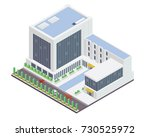 modern office building... | Shutterstock .eps vector #730525972