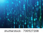 Abstract Blue Binary Code...