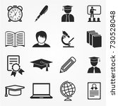 education icons   Shutterstock .eps vector #730528048