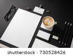 photo of blank stationery set...   Shutterstock . vector #730528426