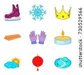 christmas eve icons set.... | Shutterstock .eps vector #730529566