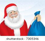 santa with presents  vector .... | Shutterstock .eps vector #7305346