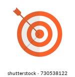 target with arrow. vector... | Shutterstock .eps vector #730538122