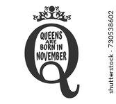 vintage queen crown silhouette. ... | Shutterstock .eps vector #730538602