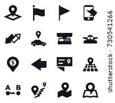 16 vector icon set   pointer ... | Shutterstock .eps vector #730541266