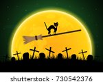 halloween festival and... | Shutterstock .eps vector #730542376