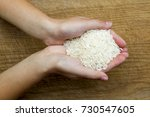 woman hands holding pile of... | Shutterstock . vector #730547605