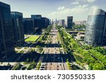 green city of the future... | Shutterstock . vector #730550335