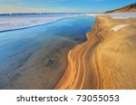 Iced Shoreline Of Lake Michiga...