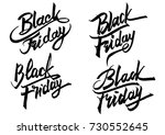 black friday greeting card.... | Shutterstock .eps vector #730552645