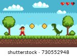old style pixel game   picture... | Shutterstock .eps vector #730552948
