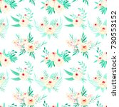 seamless floral pattern with... | Shutterstock . vector #730553152